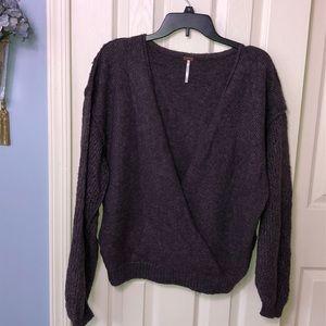 Free People purple wrap sweater